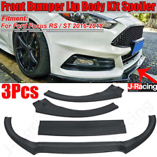 FORD FOCUS RS ST LOOK MK3 FRONT LIP SPLITTER SPOILER 12-18 GLOSS BLACK OEM FITS