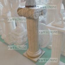 COLONNA IN MARMO BIANCO CM.100 CAPITELLO IONICO WHITE MARBLE CULUMN