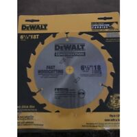 "DEWALT Series 20 6-1/2""18 Tooth ATB Thin Kerf Saw Blade w? 5/8""Arbor"