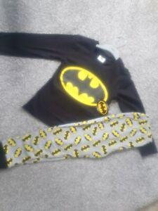 Boys Batman Pyjamas Marvel DC Nightwear Superheroes pjs long sleeve black