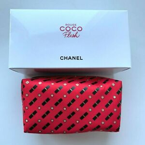 CHANEL COSMETIC/MAKEUP BAG POUCH CLUTCH RED mini rouge coco flash 2019 VIP GIFT