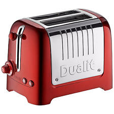 DUALIT 2 SLOT LITE TOASTER METALLIC RED 1100W EXTRA WIDE 36mm