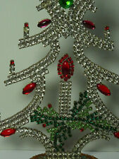 Christbaum Aufsteller Weihnachtsbaum Christmas tree  Strass Gablonz  Kerze 18cm