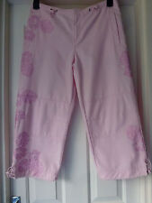 Oasis pink cropped leg trousers size 10 NEW see photos for details lovely design