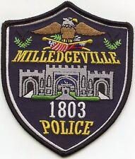 MILLEDGEVILLE GEORGIA GA POLICE PATCH