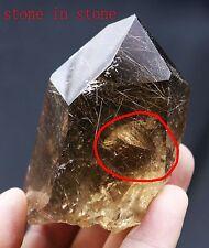 180g RARE NATURAL Hair Rutilated Stone in Stone QUARTZ CRYSTAL POINT HEALING