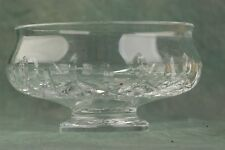 "Waterford Crystal Candy Dish 5"" Diameter 2.25"" footed Bottom 3""H Rare Pattern"