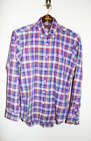 VTG Mens CHAPS RALPH LAUREN Purple Plaid Button Down Long Sleeve Shirt 16 34/35