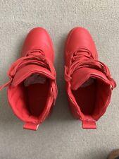 Bershka Men's Red Trainers Hi Top Sneakers Zara Shoes