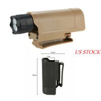 Quick Draw Tactical Flashlight Holster Holder for MOLLE Waist Carry Case