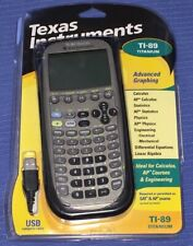 Texas Instruments Tex Ti 89 Titanium Graphing Calculator 2006 Kit Book Cd Cords