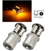 LAMPADA 2X 44 SMD LED CANBUS ERRORI FREE 581 BAU15S 1156 PY21W INDICATORE AMBRA