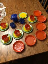 Vintage AKRO AGATE/ ALLEY  Assorted Child's Tea Set 27 Pieces