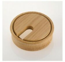 More details for wooden cable ports / grommets / hole tidies | 80mm dia | four finishes available
