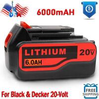 6000mAh for Black & Decker LBXR20 20V Max Lithium-Ion Battery LB2X4020 LB20 6AH
