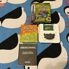 Pokemon: Leaf Green Version - Boxed + Manual & Adaptor (Nintendo, GBA, 2004) UK!
