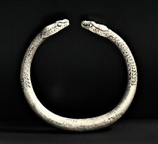 RARE ITEMS A Roman Egyptian Silver Snake Child Bracelet