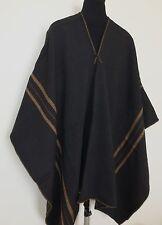 Peruvian Shaman Black Poncho Cape Andean Mountain Woven Textile