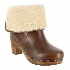 UGG® AUSTRALIA LYNNEA BROWN LEATHER & SHEEPSKIN BOOTS UK 6.5 EU 39 US 8 RRP £245