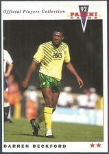 PANINI FOOTBALL 92-OFFICIAL PLAYERS COLLECTION-#154-NORWICH CITY-DARREN BECKFORD