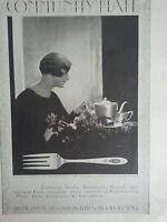 1926 Community Silverware Tea Set Original Print Ad