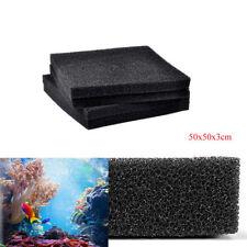 Aquarium Biochemical Cotton Filter Foam Fish Tank Sponge Pad Black 50x50x3cm
