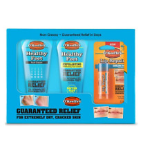 O'Keeffe's EXFOLIATING FOOT CREAMS LIP REPAIR SET FOR EXTREMELY DRY CRACKED SKIN