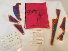 Bally Pinball Dolly Parton Original Manual with Schematics, 5 plastic covers