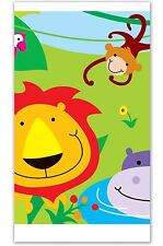 Jungle Plastic Table Cloth Cover Birthday Party Tableware Animals Lions Giraffes