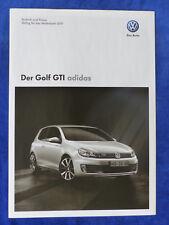 VW Golf GTI Adidas - Preisliste 2011 - Prospekt Brochure 12.2010