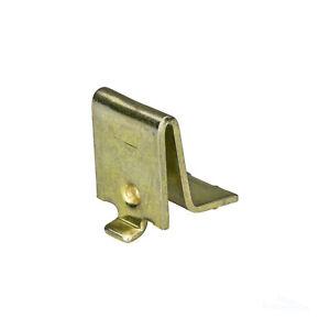 Knape & Vogt Adjustable Steel Pilaster Shelf Support Clip, Brass 256 BR