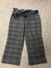 Aeropostale Gray Plaid Cropped Cotton Pants Size 0