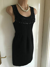 Size 16 Dorothy Perkins Black Beaded Top/ Short Dress BNWT RRP £36