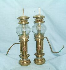 More details for  white star line - brass, carriage / cabin lamps.- converted to electric