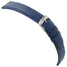 18mm Morellato Lizard Grain Mens Blue Genuine Italian Leather Watch Band
