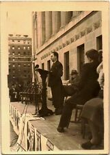 Old Vintage Antique Photograph Man at Podium Giving Political Speech