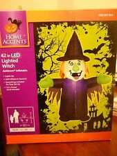 NEW 3.5 ft Airblown Inflatable Halloween lighted witch outdoor yard decor LED