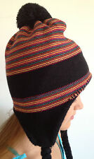 ROXY. Women's Knitted Ski or Snowboaring Hat Beenie. Pony Tails. One Size.