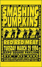 SMASHING PUMPKINS 1994 Original Tulsa OK Concert Poster