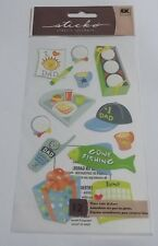 FANTASTIC GONE FISHING STICKERS FOR CARDS AND CRAFTS