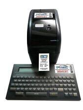 Oil change sticker label service reminder print system, 500 FREE STICKERS & INK