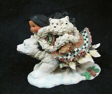 Friends of the Feather Journey O 00006000 F Friendship Never Ends Figurine Native Bear Vtg