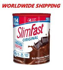 Slim Fast Original Replacement Shake Mix Rich Chocolate 12.83 Oz WORLD SHIPPING