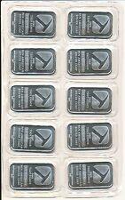 1 oz Pan American Silver Bars (.999 Pure) - Sealed Sheet of 10 Bars - U.S. Made