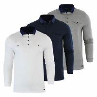 Mens Polo T Shirt Brave Soul Gospel Denim Collared Long Sleeve Casual Top