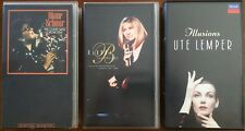 3x JAZZ VHS Lot BARBRA STREISAND DIANE SCHUUR UTE LEMPER The Concert Illusions