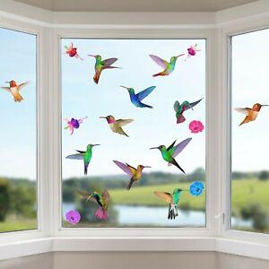 Hummingbird Window Clings Non Adhesive Vinyl Stickers Beautiful Glass Decals