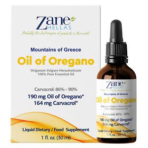 ZANE HELLAS Pure Greek Essential Oil of Oregano Oil.1 fl.oz-30ml. Super 100