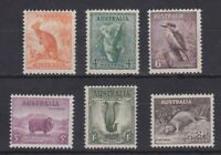 APD381) Australia 1937 - 38 Zoological series. MUH. Price $106.50