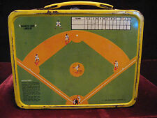 1969 King-Seeley Thermos Co. Baseball-Play Ball Lunchbox W/ Magnetic Game Board!
